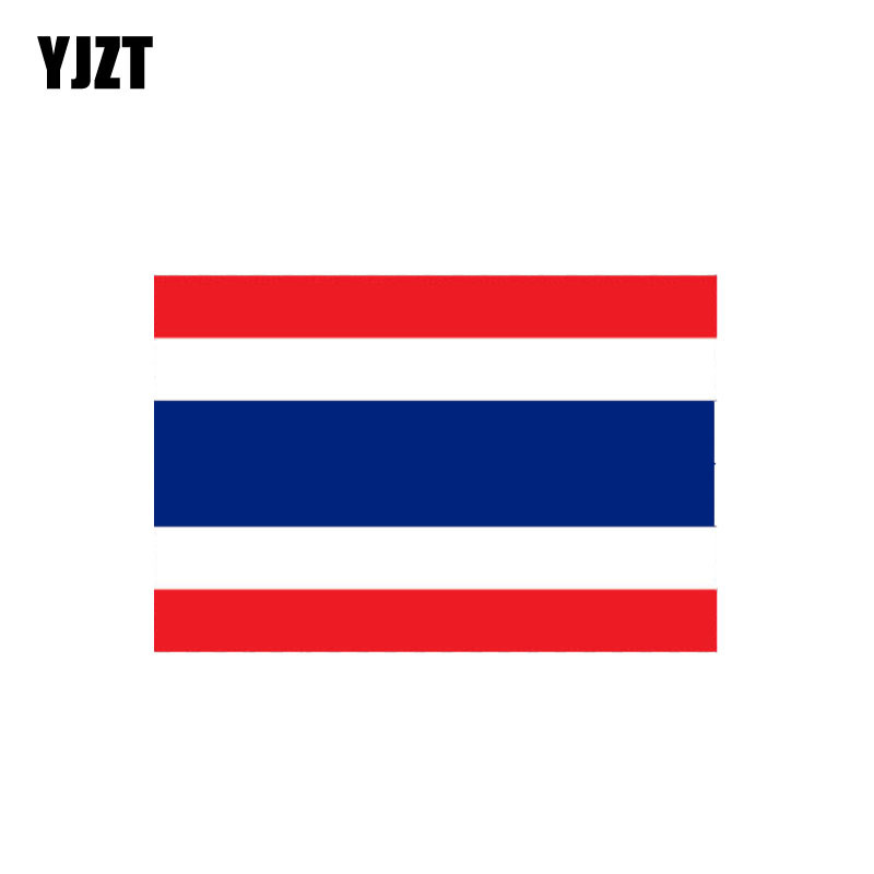 YJZT 11.5CM*7.6CM Creative Thailand Flag Car Sticker Funny Reflective Decal 6-0973