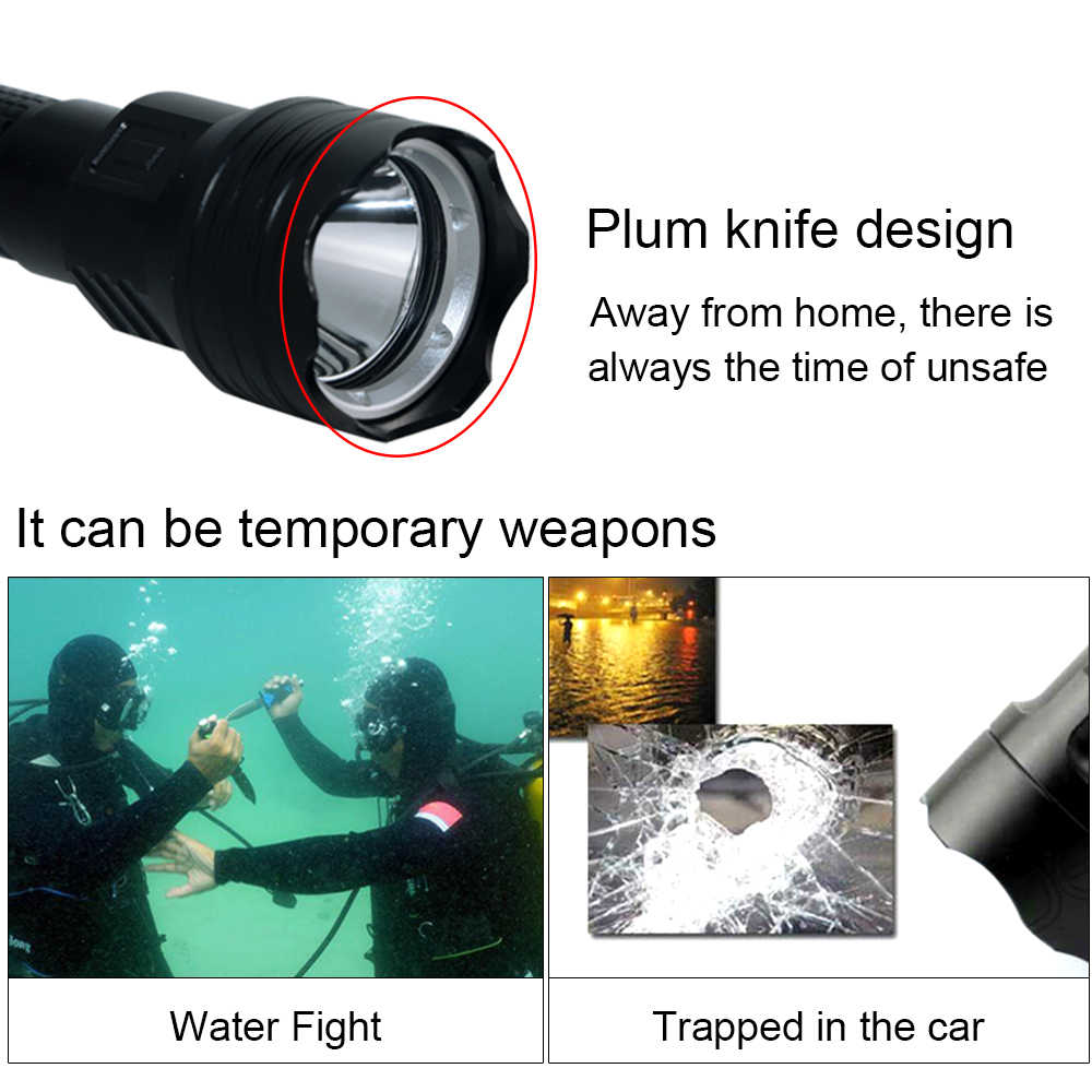 Waterproof 3W 400LM Mini LED Diving Flashlight Torch Light Lamp Underwaters