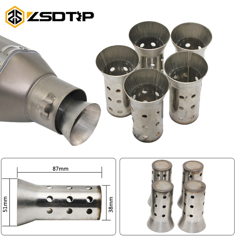 ZSDTRP 51MM Universal Motorcycle Exhaust Can Muffler Insert Baffle DB Killer Silencer Easy Installation No Tools Required