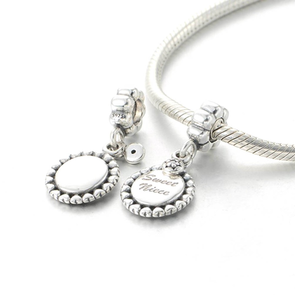 925 Sterling Silver Niece Charm