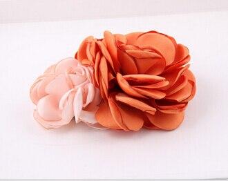 Новинка 10 шт./лот модные Обувь для девочек двойной цветок Заколки для волос милый детский Волос Зажимы Best фестиваль подарки - Цвет: 2