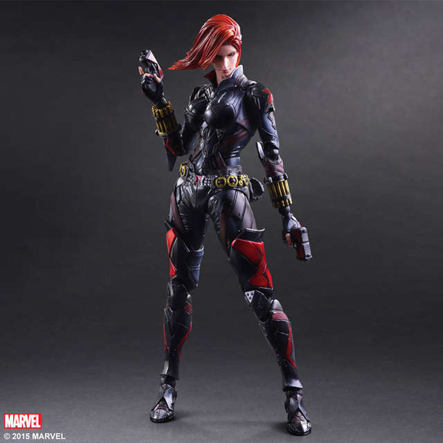 Online Shop Birthday Toy Gift Marvel Avengers Action Figure Collection 27 PA Black Widow Natasha Model Doll Movable Decorations
