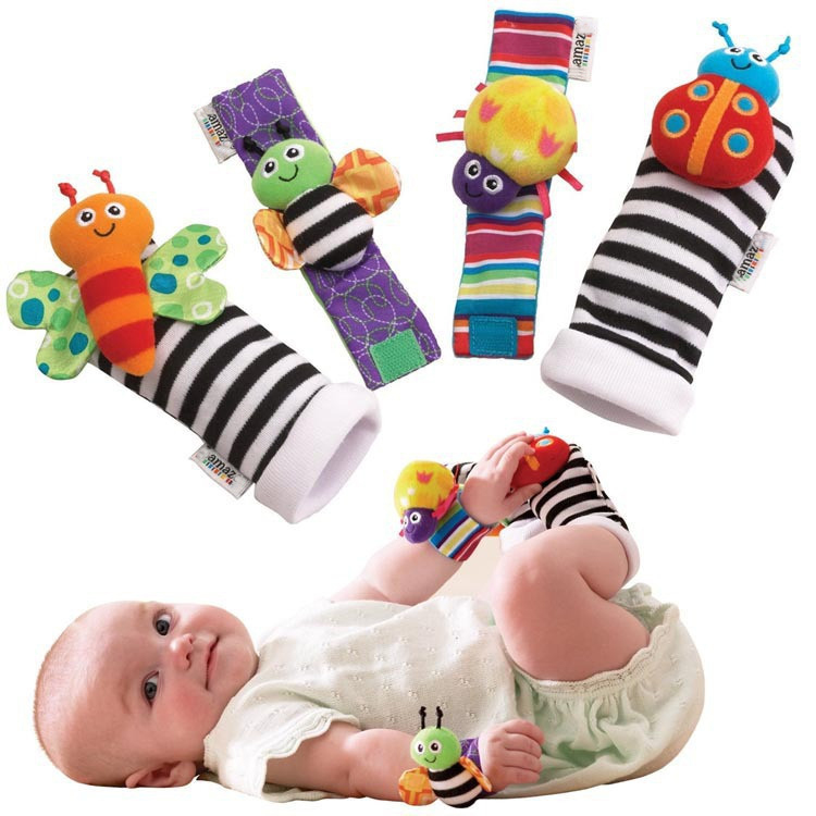 Happy Socks Baby Newborn Toys 0-12 Months Cartoon Cotton Baby Rattles Toys Educational Brinquedos Para Bebe Bebek Oyuncak