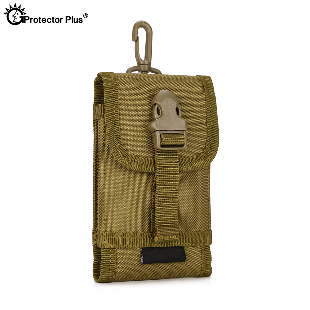 PROTECT PLUS Attachment Pouch Men's 5.8 Inches Cell Phone Set Tactical MOLLE System Accessory Bag Climbing Travel Hiking Bags