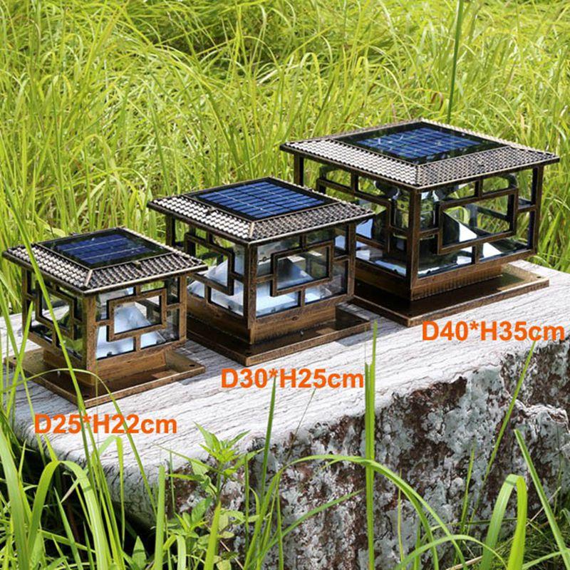 d25 h22cm estilo antigo e classico led solar pilar luz jardim solar luz jardim led luz