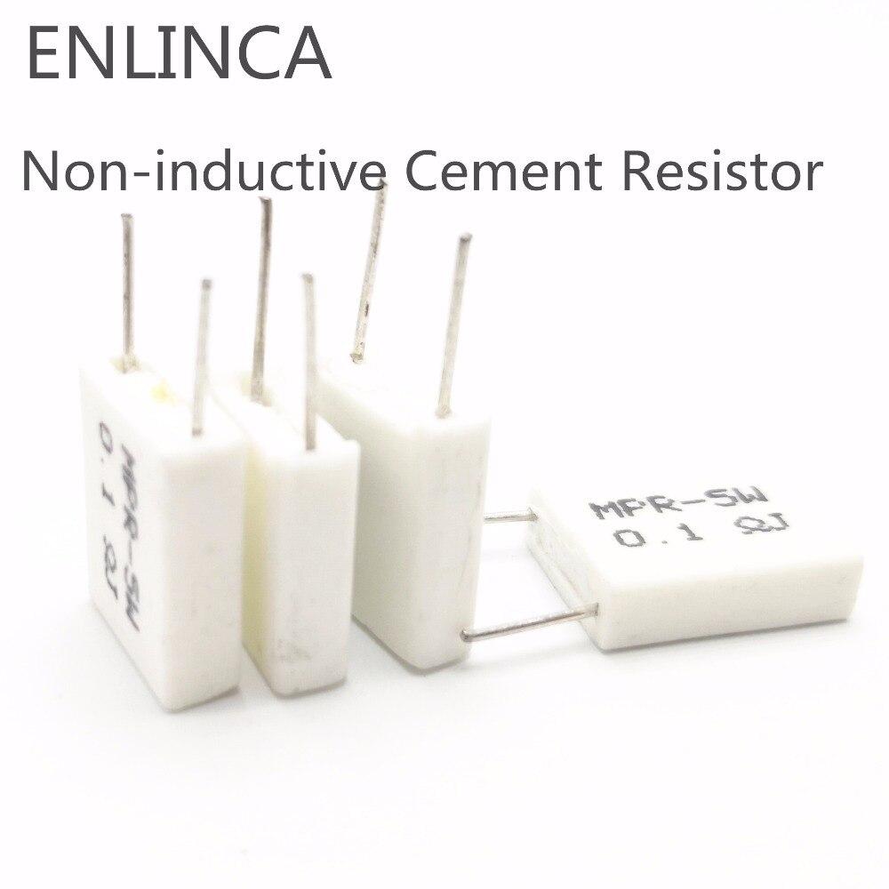 10pcs 5W 0.05 0.47 0.047 0.027 1 2 Ohm 0.47R 0.05R 1R 2R 0.047R 0.027R Non-inductive Cement Resistor Resistance 5%