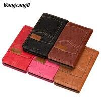 Brand phone case for xiaomi 8 Genuine Leather phone case all handmade custom flip cowboy Card position phone case