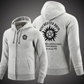Winter supernatural Hoodies Sweatshirts Fleece Hoody Zipper Sportswear Clothing