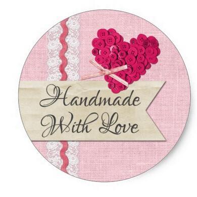 1 5 polegadas feitas a mao com amor costurar botoes embalagem do produto classico adesivo redondo