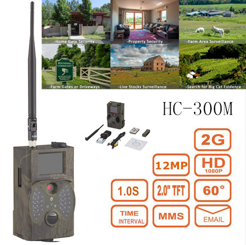 Scouting hunting camera HC300M HD GPRS MMS Digital 940NM Infrared Trail Camera GSM scouting hunting camera hc300m hd gprs mms digital 940nm infrared trail camera gsm 2 0 lcd hunter cam drop shipping