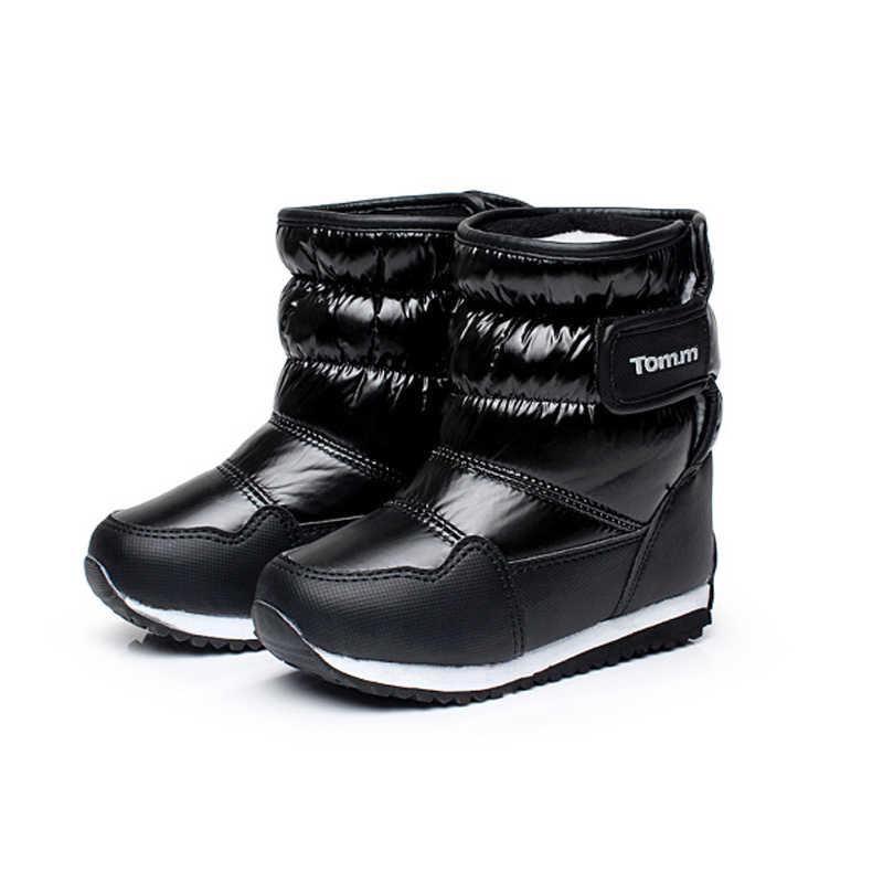 Детские резиновые сапоги для девочек и мальчиков, зимние сапоги до середины голени со шнуровкой, водонепроницаемые сапоги для девочек, спортивная обувь, меховая подкладка, детские сапоги