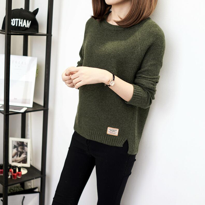 Thick Warm Winter Sweater Women 2018 Knitted Pullover Female Jumper Tricot Pullover Womens Winter Tops Pull Femme