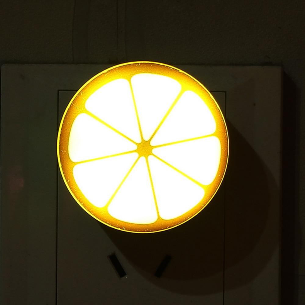 Lighting Pattern: Lemon Pattern Mini LED Night Light Auto Sensor Control