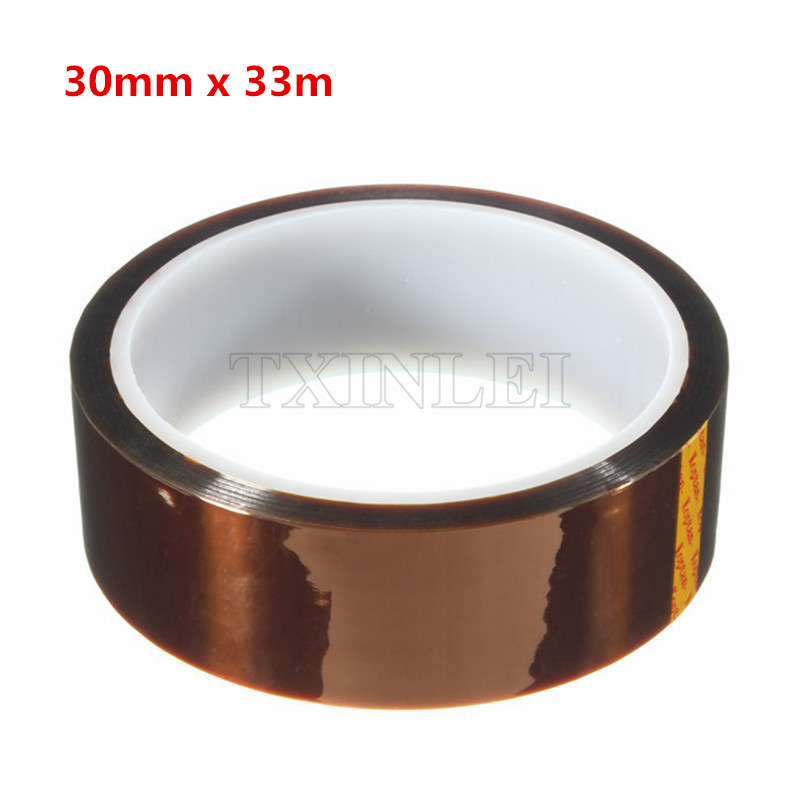 20 pieces lot Polyimide Tape Film High Temperature 30mm X 33m Used in BGA soldering