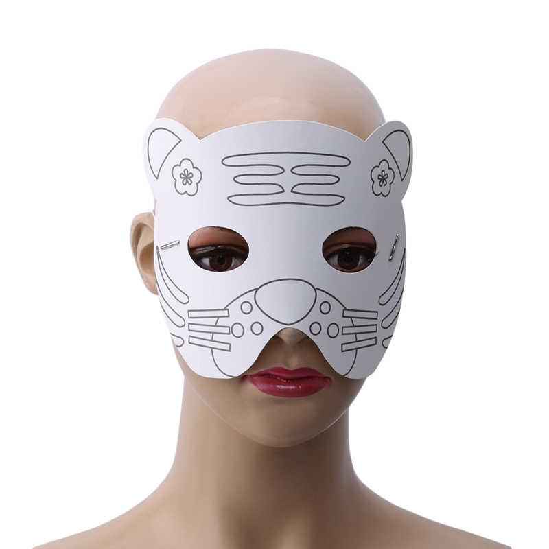 Лучшие продажи Дети DIY Цвет мультфильм животных живопись маска для детского сада, дошкольные граффити искусство ремесла игрушки креативный Рисунок Игрушки