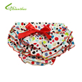 Baby Ruffle Bloomers Layers With HeadBand Baby Diaper Cover Newborn Dots Shorts with Skirts Toddler Cute Summer Cotton Pants