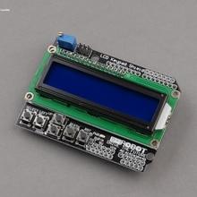 Free Shipping New 1PCS 1602 LCD Board Keypad Shield Blue Backlight for Arduino Duemilanove Robot