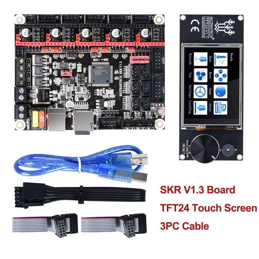 BIGTREETECH SKR V1.3 carte d'imprimante contrôleur 32Bit + écran tactile TFT24 + 5 pc TMC2208 TMC2209 UART TMC2130 spi MKS GEN L pièces 3d