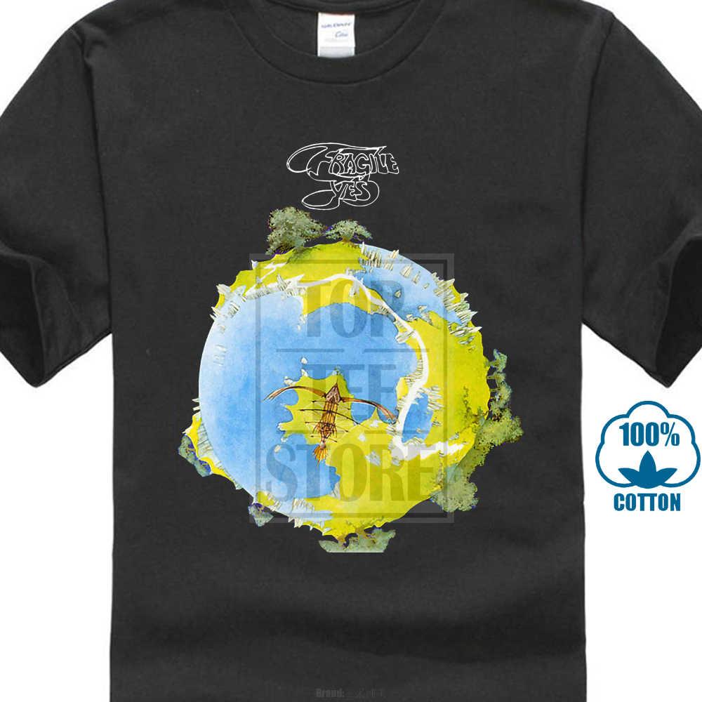 Простая хлопковая футболка с короткими рукавами да хрупкий Джон Anderson, Anderson Бруфорд Wakeman прогрессивная рок Мужская футболка