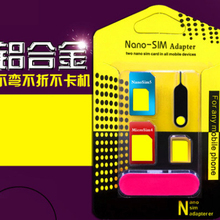 5 in 1 Nano Sim Card Adapters + Regular & Micro Sim