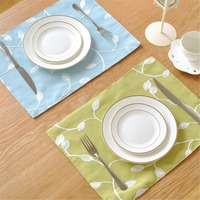 FUYA Embroidery Style Home Essential Cotton Deck Napkin Table Cloth Ethnic Style Roasted Tea Series Mat