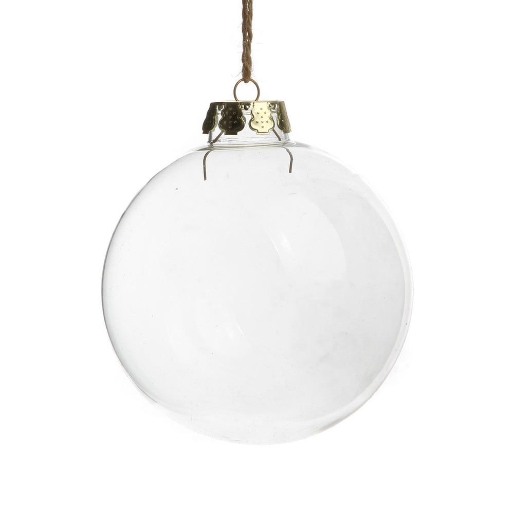 Baby loss ornaments - Baby Loss Christmas Ornaments Free Shipping Christmas Ornaments 80mm Clear Glass Balls With Gold Top
