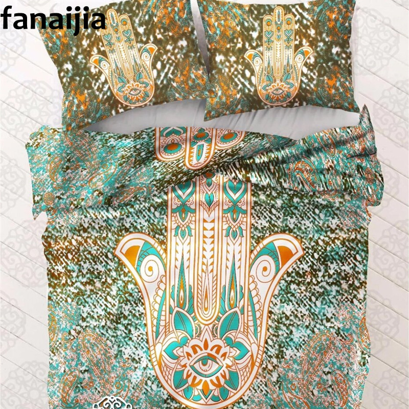 India Bohemian Bergam Duvet Cover set with pillowcase 3pcs bedding sets Full Queen King best gift