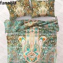 Индия чешского bergam Набор пододеяльников для пуховых одеял комплект с наволочкой 3 шт. постельного белья Полный Queen King лучший подарок bedline