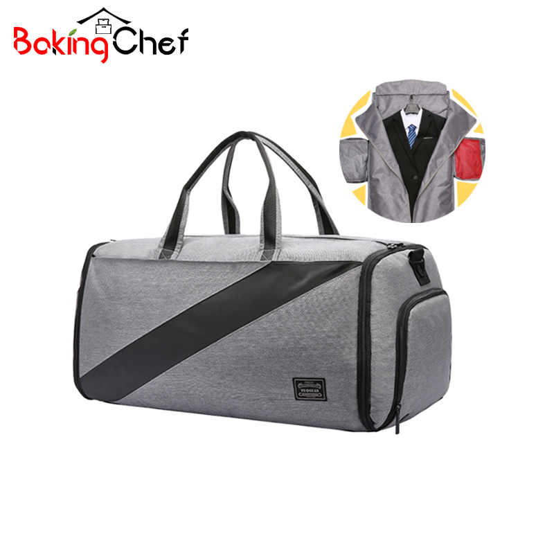 BAKINGCHEF voyage hommes costume sac affaires vêtements sous-vêtements chaussures Crossbody sacs Document électronique articles de toilette sac à main