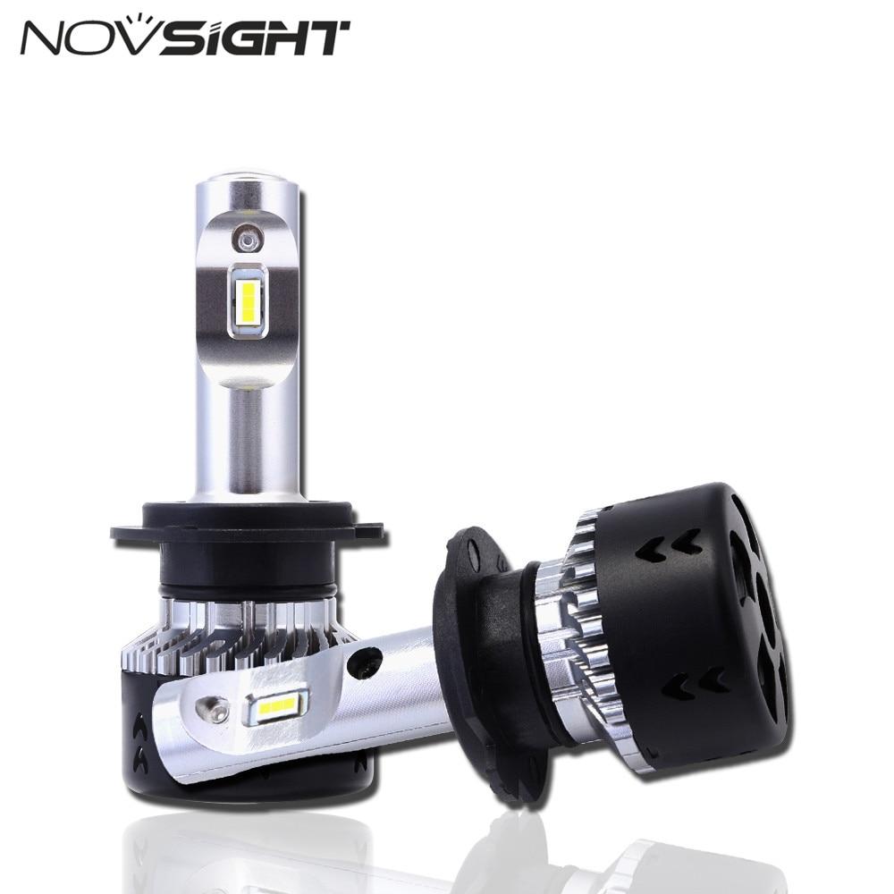 NOVSIGHT H7 LED Car Headlights 70W 10000LM Auto Driving Play and Plug Fog Lights Headlamp Lights
