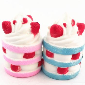 Cake Squeeze Stress Toys Strawberry Cake Cream Super Slow 10 second Rising 1 PCS Slow Rising Cream Scented Release Stress Toy фото