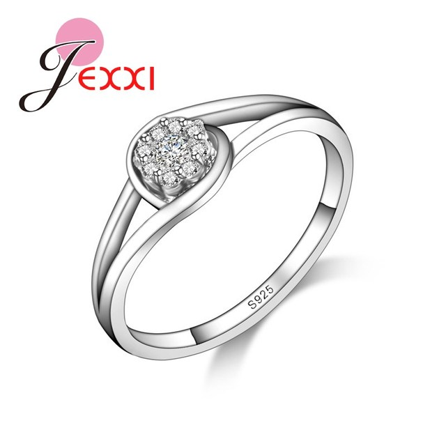 JEXXI Low Price Hotsale Wedding Engagement Women Rings Fashion 925 Stamp Silver Jewelry Birthday Party Valentine Day Gifts