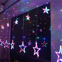2M Romantic Fairy Star Lights AC 220V LED Curtain String Lighting For Holiday Wedding Garland Party