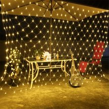 220V LED Net Mesh String Light Rustic Wedding Garland Vintage Wedding Decoration Birthday Party Decor Home Festive Party Supply(China)