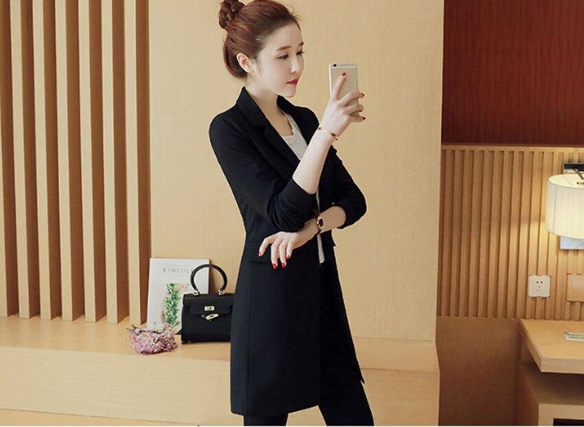 Blazer Mujer Rushed Flying Roc 2019 Woman Long Slim Blazer Casual Style Feminino Office Lady Plus Size Jacket Suit Hot Sale