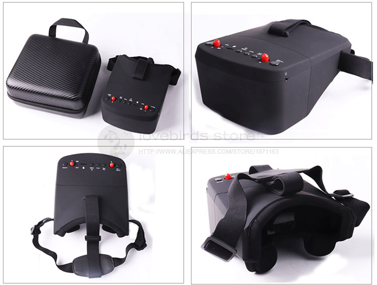 FPV video glasses display 5 inch 40-CH double receiver built-in DVR for DIY FPV quadcopter drone free shipping hawkeye hawk eye little pilot 5 inch hd fpv snowflake display built in 5 8g receiver for fpv kvadrokopter