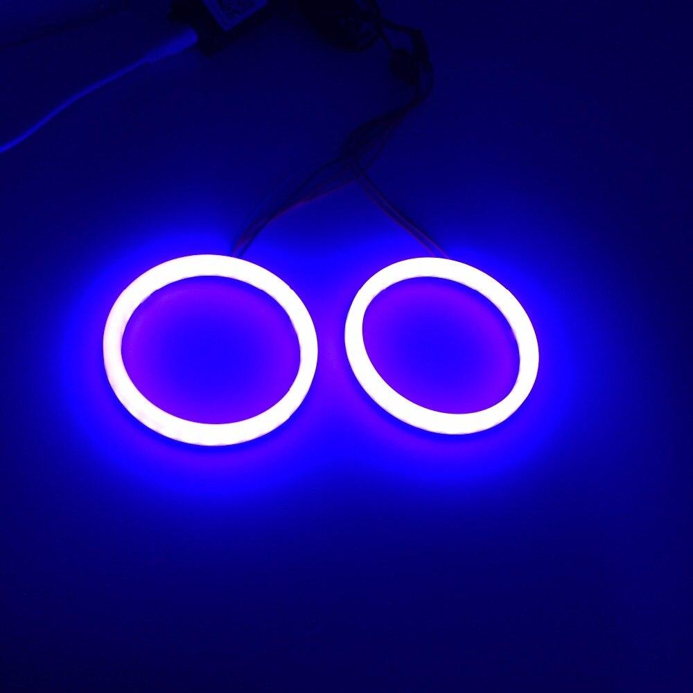 TAOCHIS RGB Angel eyes Mobile Pone APP Remote Control 60mm 70mm 80mm 90mm 95mm 100mm Motorcycle Auto Car Head Light Retrofit