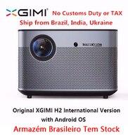 Оригинальный XGIMI H2 проектор для домашнего Театр 300 дюйма 1080 P Full HD 3D Android Bluetooth, Wi-Fi Suppor4K DLP ТВ проектор