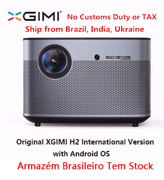 D'origine XGIMI H2 Projecteur Home Cinéma 300 Pouces 1080 P Full HD 3D Android Bluetooth Wifi Suppor4K DLP TV Beamer