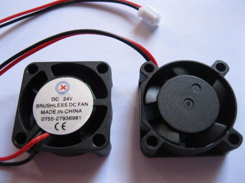 10 Stücke Bürstenlosen Dc Kühlung 5 Klinge Fan 2510 S 24 V Schwarz 2 Draht