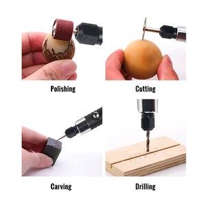 Image 3 - Elektrikli güç araçları ile Mini matkap 0.3 3.2mm taşlama aksesuarları seti çok fonksiyonlu Mini gravür kalem Dremel araçları için