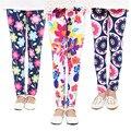 2 - 13 anos 2016 nova primavera Leggings de impressão meninas calças calças roupas de bebê crianças Leggings
