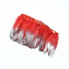 2Meters Dipped Gold silver Goose Feathers Trims Fringe red Feather  Crafts Carnival Clothing dress headwear Wedding decoration