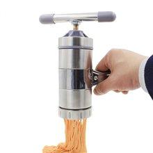 Handmade Noodles Machine Steell Pasta Maker Spaghetti Macaroni Flour Food Press Fruits Citrus Vegetables Juicer+5 Noodle Mould