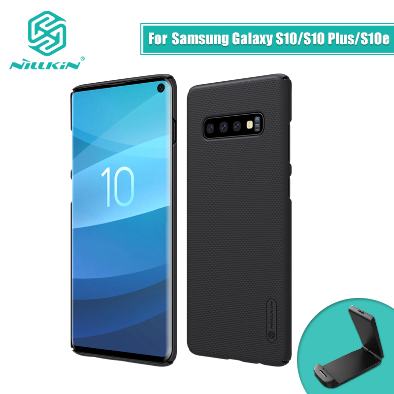 NILLKIN For Samsung Galaxy S10e Lite / S10 / S10 Plus Case Cover Frosted PC Matte hard back cover Gift Phone Holder 5.8/6.11/6.4