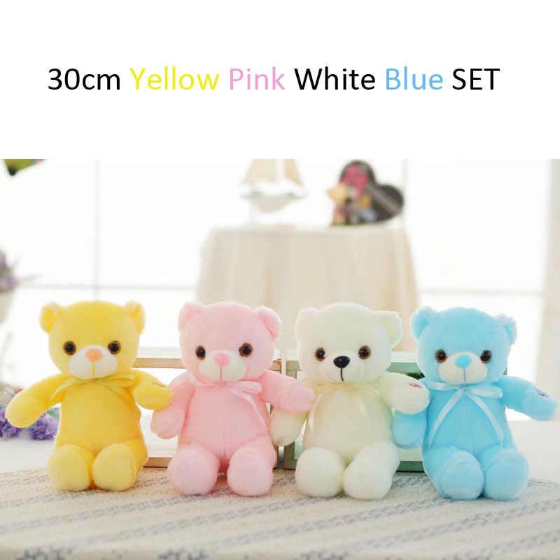 Креативный комбинированный набор светящийся светодиодный плюшевый мишка мягкие животные плюшевые игрушки красочный светящийся плюшевый мишка рождественский подарок для детей