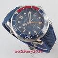Роскошные мужские часы  2019  модные автоматические часы с сапфировым стеклом  светящаяся ДАТА GMT  наручные часы с резиновым ремешком