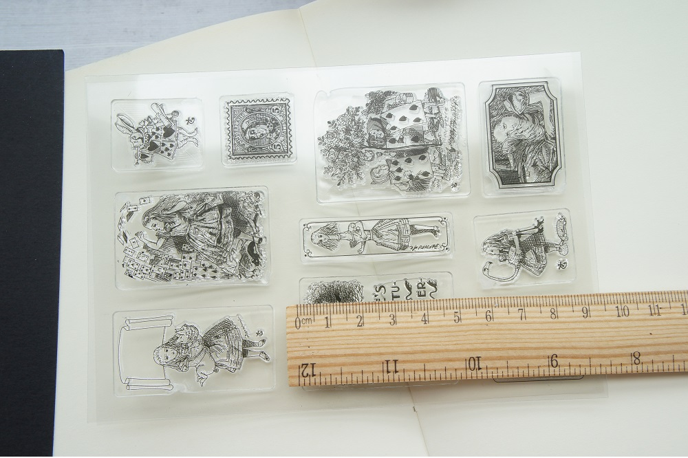 fairy tale Alice story design clear transparent stamp silicone stamps as scrapbooking decoration DIY card paper gift use in Stamps from Home Garden