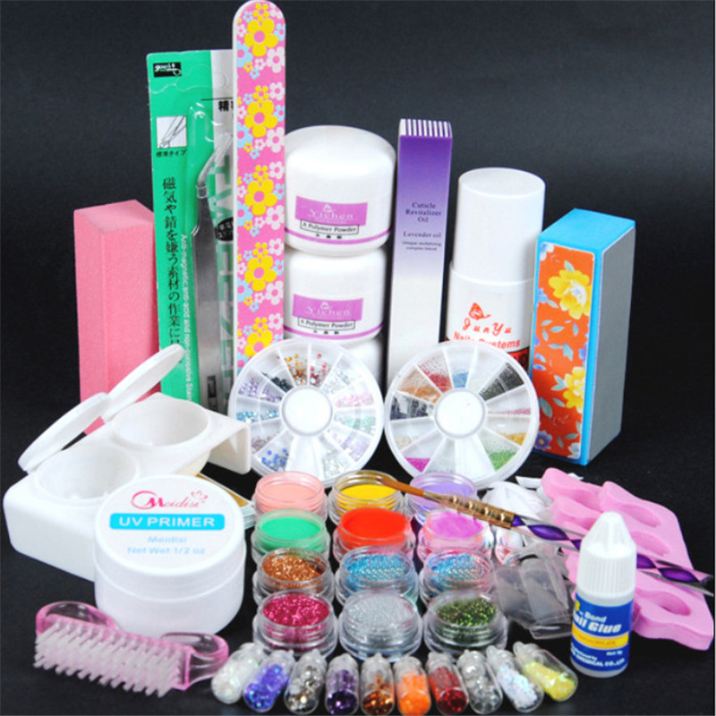 UV GEL 22 Color UV Gel Nail Art Tools polish Set Kit Manicure nail extension kit цена