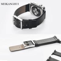 MEIKANGHUI Genuine Leather Watchbands For Women Men Fits All Of Apple Watch Series 1 2 38